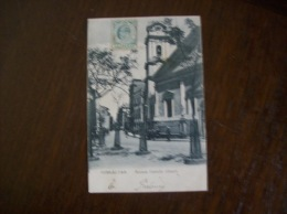 Carte Postale Ancienne De Gibraltar: Roman Catholic Church - Timbre  Half Penny -Edouard VII, N° 37 Ou 47 YT - Gibraltar