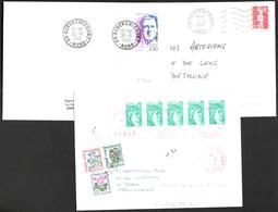 FRANCE '59 AUBERCHICOURT' 1979/90  3  OBLITERATIONS - Marcophilie (Lettres)
