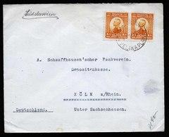 A5538) Yugoslavia Jugoslawien Brief 1922 Nach Koeln / Germany - 1919-1929 Königreich Der Serben, Kroaten & Slowenen