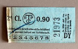 Billet DY  Tramways TCRP Paris - Tram