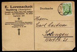 A5539) Litauen Werbekarte Silute Heydekrug 1924 N. Solingen / Germany - Lithuania