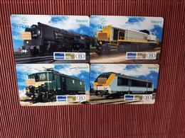 Set NMBS 4 Cards  (Mint,Neuve) Very  Rare - Belgium