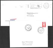 FRANCE '59 AULNOYE-AYMERIES P.P.' 1994/96  2  MARQUES POSTALES Et OBLITERATIONS - Marcophilie (Lettres)