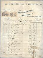 Papiers Peints  Facture Du  13 JUILLET  1935    13 Rue Des Carmes Nancy - France
