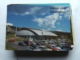 Noorwegen Norway Norge Lillehammer Hakons Hall With Cars - Noorwegen