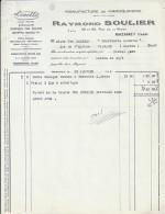 81 - TARN - MAZAMET - FACTURE/LETTRE - 1934 -  LA MAROQUINERIE LINETTE / R. SOULIER - Frankrijk