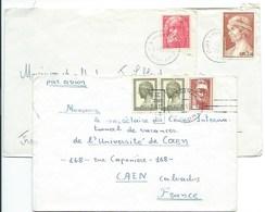 3 Enveloppes De Grèce Avec Affranchissements Différents Pour Caen - Lettres & Documents