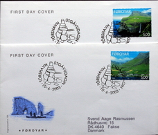 Faroe Islands  2003  .   MiNr.460-61   FDC    ( Lot 6380 ) FOGHS COVER - Féroé (Iles)