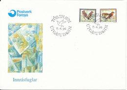 Faroe Islands FDC Birds 15-4-1996 - Faroe Islands
