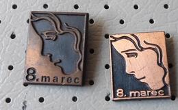 8. March International Women's Day Women's Face Slovenia Pins - Pin-ups