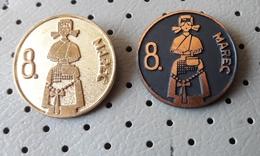 8. March International Women's Day Slovenia Pins - Associations