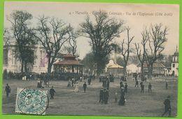 MARSEILLE - Exposition Coloniale - Vue De L'Esplanade Côté Droit Cpa Colorisée Circulé 1906 - Exposition D'Electricité Et Autres