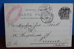 1899   -     GARE  DE  VIERZON   SUR   ENTIER  POSTAL    POUR      L   '   AUTRICHE - Marcophilie (Lettres)