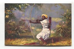 Aboriginal Rajputana, With Bow And Arrow, Native Life, India - Old Tuck Postcard No. 7408 - India