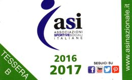 CARD - CARTA ASSOCIATIVA ASI ANNO 2016-2017 - Gift Cards