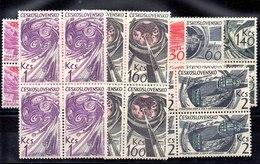 Bloque De Cuatro De Checoslovaquia N ºYvert 1381/87 (**) - Tschechoslowakei/CSSR