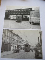 VERSAILLES : Tramway De 1950 à 1957 - Lot 2 CPM - Lignes Fermées Le 3 Mars 1957 - Détails 2 Scans - Tramways