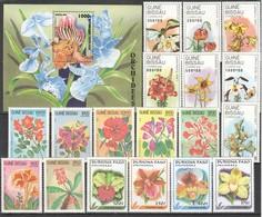 F090 1983,1989,1999 TOGOLAISE GUINE-BISSAU PLANTS FLOWERS 3SET+1BL MNH - Végétaux