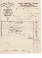 2 Factures Passementerie, Harnachement, Armes V. Petitfils / H. Bailhache, 41 Rue De Richelieu, Paris,1898 Et 1924 - Equipement