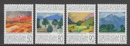 SERIE NEUVE DU LIECHTENSTEIN - TABLEAUX : PAYSAGES (700E ANNIV. DE LA CONFEDERATION HELVETIQUE) N° Y&T 957 A 960 - Arte