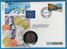 NUMIS COVER GREECE 2 EURO 2009 10th Anniversary Of The European Monetary Union (1999-2009) 2/16 - Grecia