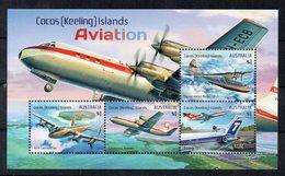 AUSTRALIE - AUSTRALIA - COCOS ISLANDS - KEELING - AVIATION - PLANES - AVIONS - 2017 - M/S - B/F - - Cocos (Keeling) Islands