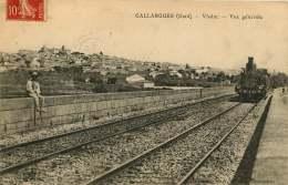 30   GALLARGUES   VIADUC         VUE GENERALE   LOCOMOTIVE - Gallargues-le-Montueux