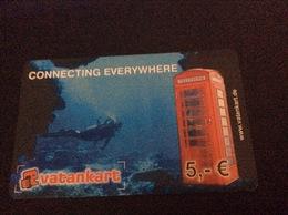 5 €  - Vatankart  Diver  -  Little Printed  -   Used Condition - [2] Prepaid