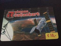 10 €  - Vatankart  Yimpas  Satellite   -  Little Printed  -   Used Condition - [2] Mobile Phones, Refills And Prepaid Cards