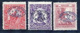 DEBRECEN 1919 Overprint On War Charity MH / *.  Michel 11-13 - Debreczen