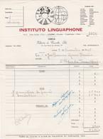 PORTUGAL COMMERCIAL INVOICE - LISBOA - INSTITUTO LINGUAPHONE - VALENTIM DE CARVALHO - 1955 - Portugal