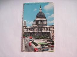CPSM ANGLETERRE LONDON La Cathédrale De St Paul 1955 T.B.E. Dentelée - St. Paul's Cathedral