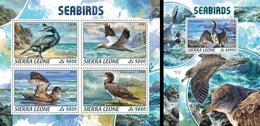Sierra Leone 2018, Animals, Seabirds, 4vai In BF +BF - Marine Web-footed Birds