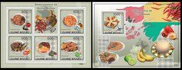 GUINEA BISSAU 2009 - Gastronomy - YT 3016-20 + BF462 - Vegetables