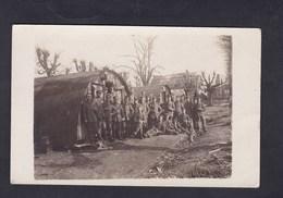 Carte Photo Guerre 14-18 Mesnil Près De Peronne (80) Baraquements Soldats Allemands Deutsche Armee - France