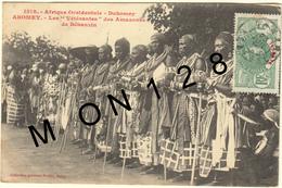 AFRIQUE OCCIDENTALE-BENIN -DAHOMEY - ABOMEY - LES VETERANS DES AMAZONES DE BEHANZIN - Benin
