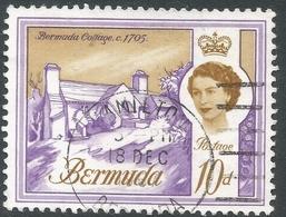 Bermuda. 1966-69 QEII. 10d Used. Sideways Block CA W/M SG 199 - Bermuda