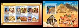 GUINEA BISSAU 2008 - Egypt - YT 2668-73 + BF427 - Egyptologie