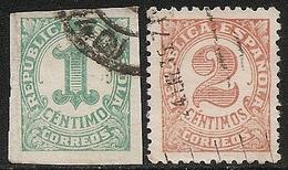 1933-ED. 677 Y 678- SERIE COMPLETA. CIFRAS. SELLOS PARA IMPRESOS-USADO - 1931-50 Usati