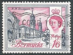 Bermuda. 1966-69 QEII. 1/6 Used. Sideways Block CA W/M SG 199 - Bermuda