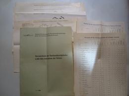 VST. VERZEICHNIS DER VERBANDSMITGLIEDER / LISTE DES MEMBRES DE L'UNION - SCHWEIZ, SWITZERLAND, 1964. - Railway