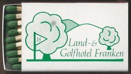 Luciferdoosje. Land & Golfhotel FRANKEN. GEISELWIND. Friedrichstr. 1. Matchbox Allumettes Luciferdoos Lucifer Lucifermap - Matchboxes