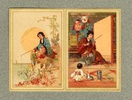 Calendrier Vierge Vallet Minot Japon Japan Asia Pêcheur Blank Victorian Calendar - Calendars
