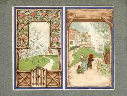 Calendrier Vierge Vallet Minot ? Enfants Children Campagne Blank Victorian Calendar - Calendars