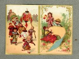 Calendrier Vierge Vallet Minot Chine China Lampion Asia Blank Victorian Calendar - Calendars