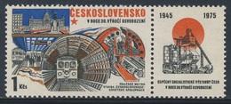 Tschechoslowakei Czechoslovakia 1975 Mi 2287 YT 2130 ** Underground Railway, Prague / U-Bahn /Metro, Prag - Treinen