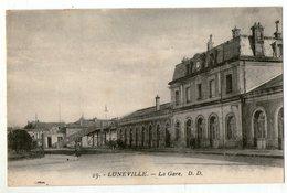 CPA   54    LUNEVILLE        LA GARE          ENTREE  FACADE - Gares - Sans Trains