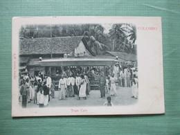 CPA SRI LANKA COLOMBO TRAM CARS ANIMEE - Sri Lanka (Ceylon)