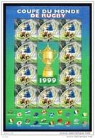 France Bloc Feuillet Neuf Luxe ** N° 26 1999 Coupe Du Monde Rugby Valeur Faciale 4.60€ Lot Vendu Sous Faciale - Neufs