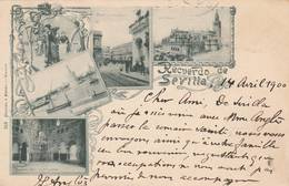 Seville - Sevilla - 1900 - Recuerdo De Sevilla - Scan Recto-verso - Sevilla